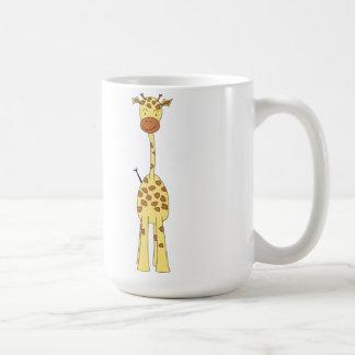 Tall Cute Giraffe. Cartoon Animal. Mugs