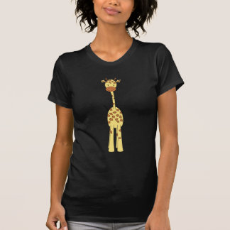 Tall Cute Giraffe. Cartoon Animal. T Shirt