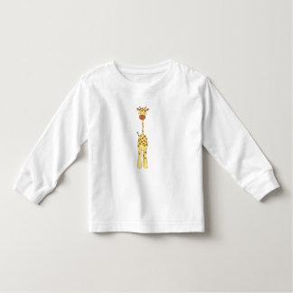 Tall Cute Giraffe. Cartoon Animal. T-shirts