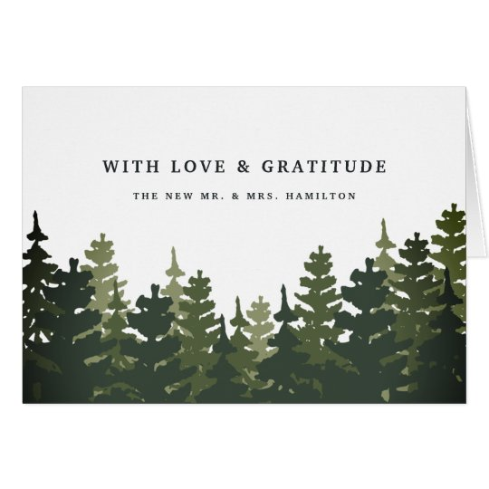 Tall Pines Thank You Card