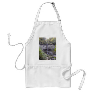 Tall Waterfall Over A Rocky Cliff Aprons
