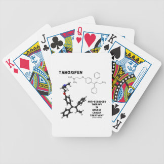 Tamoxifen Anti-Estrogen Therapy In Breast Cancer Bicycle Playing Cards