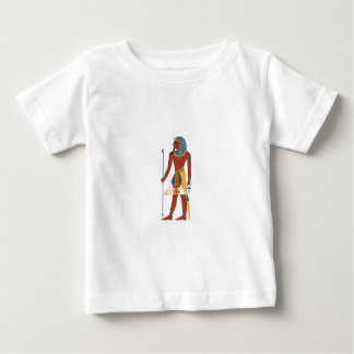Tan Ancient Egyptian Man in Headdress Holding Ankh Baby T-Shirt