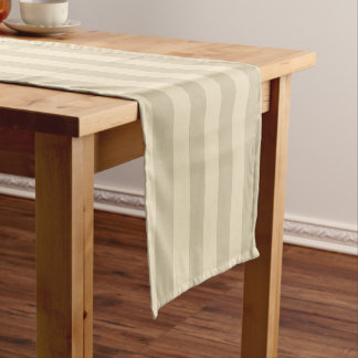 Tan And Beige Pattern Short Table Runner