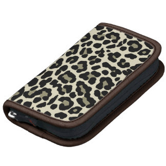 tan and coffee fashionable leopard print planners