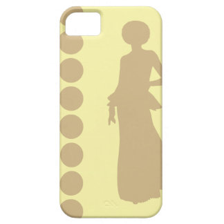 Tan Cream Neutral Dots Fashion Barely There iPhone 5 Case