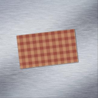 Tan Tartan Magnetic Business Cards