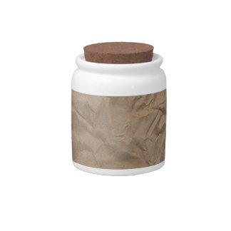 Tan Wrinkled Paper Texture Candy Jars