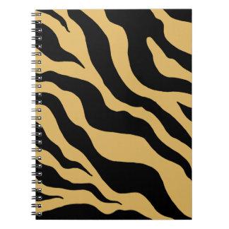 Tan Zebra Print Notebook