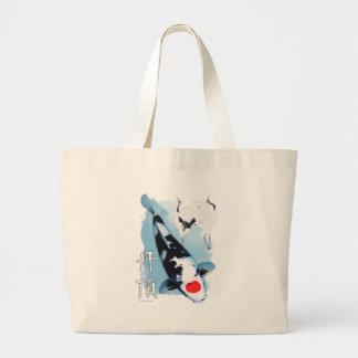 Tancho koi large tote bag