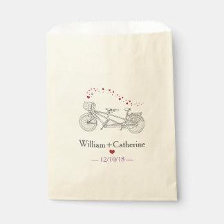 Tandem Bicycle Built For Two Wedding Favor Bag