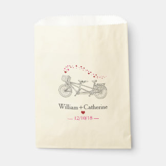 Tandem Bicycle Built For Two Wedding Favor Bag Favour Bags