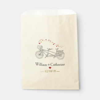 Tandem Bicycle Built For Two Wedding Favor Bags