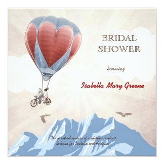 TANDEM LOVE DREAM  Bridal Shower 13 Cm X 13 Cm Square Invitation Card