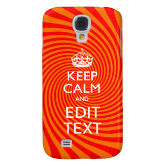 Tangerine and Red Swirl Decor for Your Keep Calm Galaxy S4 Case