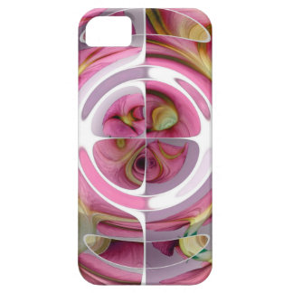 Tangerine and Rose Abstract Collage iPhone 5 Cases