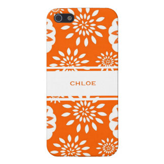 Tangerine Blossom Personalized Floral Splash Case For iPhone 5/5S