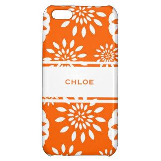 Tangerine Blossom Personalized Floral Splash iPhone 5C Case