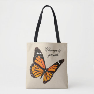 Tangerine Butterfly Tote