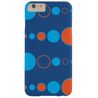 Tangerine Cyan Bubbles Barely There iPhone 6 Plus Case