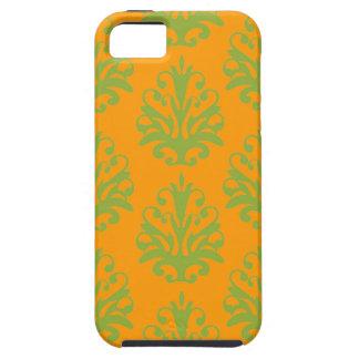Tangerine Damask iphone 5 case