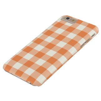 Tangerine Gingham iPhone 6 Plus Case