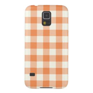 Tangerine Gingham Pattern Galaxy S5 Case