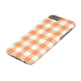 Tangerine Gingham Pattern iPhone 6 Case