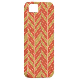 Tangerine Gold Herringbone Barely There iPhone 5 Case