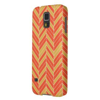 Tangerine Gold Herringbone Cases For Galaxy S5