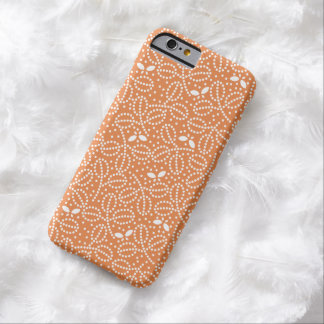 Tangerine Leaf & Butterfly iPhone 6 Case