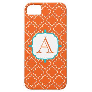 Tangerine Monogram Phone 5 Case iPhone 5 Covers
