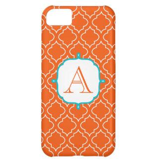 Tangerine Monogram Phone 5 Case iPhone 5C Case