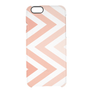 Tangerine Ombre Zigzags Clear iPhone 6/6S Case