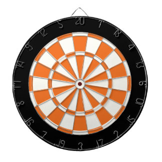 Tangerine Orange Black And White Dart Boards