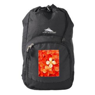 Tangerine Orange Blossoms Floral Backpack