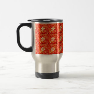 Tangerine Orange Blossoms Nature Floral Travel Mug