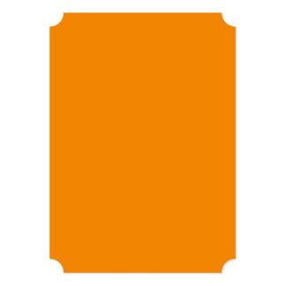 Tangerine Orange High End Colored 13 Cm X 18 Cm Invitation Card