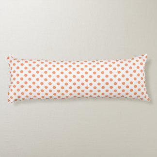 Tangerine Orange Polka Dots Circles Body Cushion