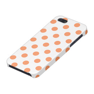 Tangerine Orange Polka Dots Circles Case For iPhone 5/5S