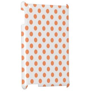 Tangerine Orange Polka Dots Circles iPad Covers