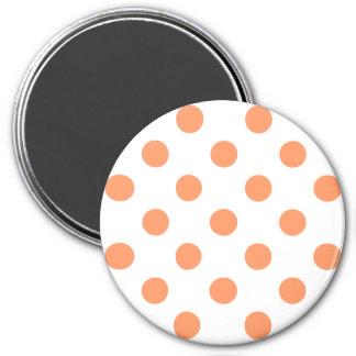 Tangerine Orange Polka Dots Circles Magnet