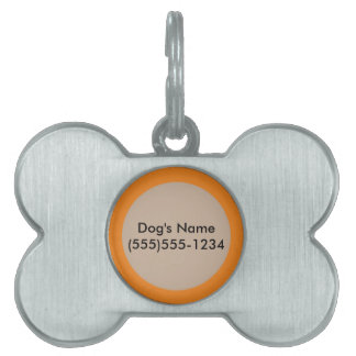Tangerine Orange template to personalize Customize Pet ID Tags