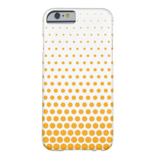 Tangerine Polka Dots Modern White Barely There iPhone 6 Case