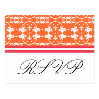 Tangerine Raspberry Orange Pink RSVP Postcards