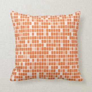 Tangerine Rectangle Mosaic Cushion