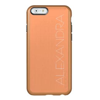 Tangerine Solid Color Incipio Feather® Shine iPhone 6 Case