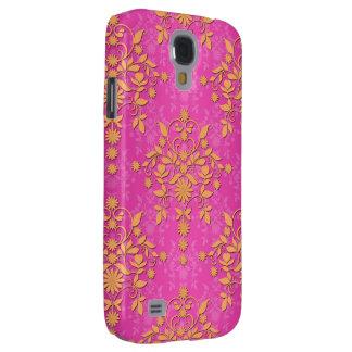 Tangerine Tango Daisy Damask Galaxy S4 Case