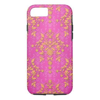Tangerine Tango Daisy Damask iPhone 7 Case