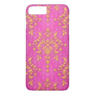 Tangerine Tango Daisy Damask iPhone 7 Plus Case